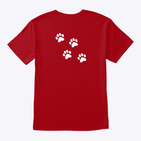 Mid America Service Dogs' Apparel Deep Red T-Shirt Back
