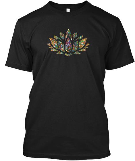 Mens Lotus Flower Yoga Meditation Om Nam Black T-Shirt Front