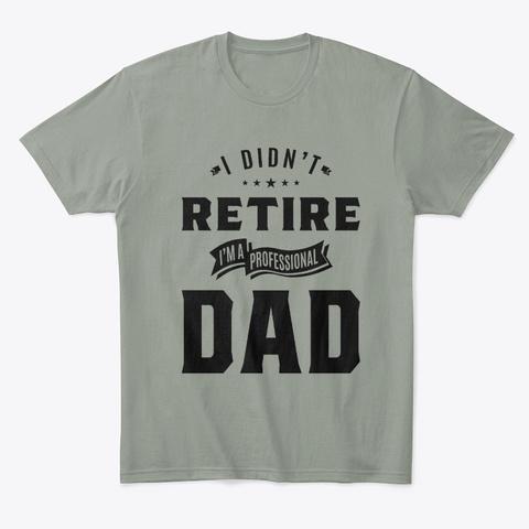I Didn't Retire I'm A Professional Dad  Grey T-Shirt Front