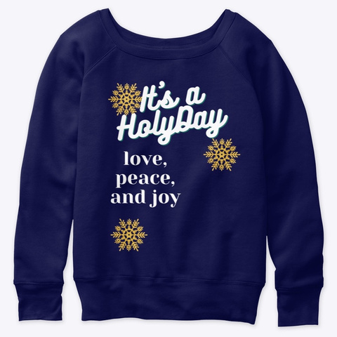 Holy Day Black And Blue Navy  T-Shirt Front