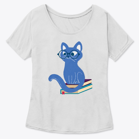 Cat's On The Books Athletic Heather T-Shirt Front