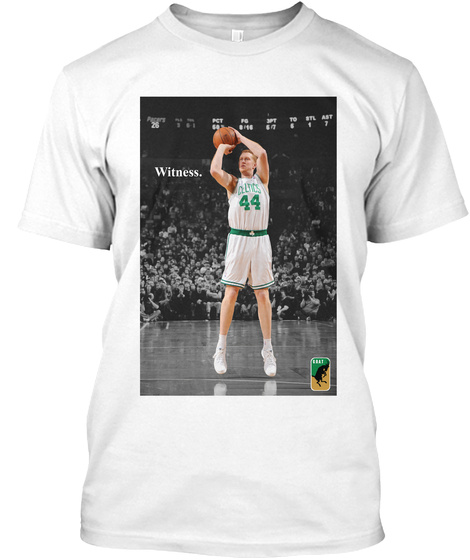 Witness: Brian Scalabrine Boston White T-Shirt Front
