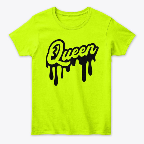 Queen Drip Judah Clothing™ Safety Green T-Shirt Front
