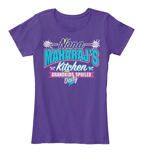 Nana Maharaj's Kitchen Purple T-Shirt Front