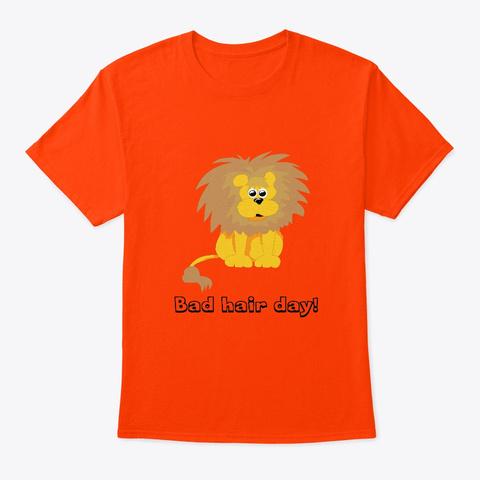 Bad Hair Day Lion Orange T-Shirt Front