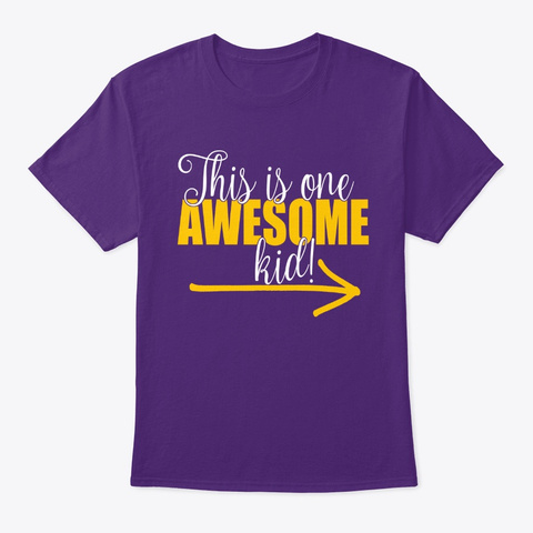 This Is One Awesome Kid Selfie Tee Purple T-Shirt Front