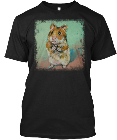 Hamster Awesome Gift Black T-Shirt Front
