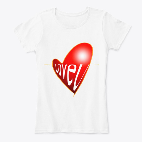 """Camiseta """"Love U"""" De Guillermo Morante White T-Shirt Front"""