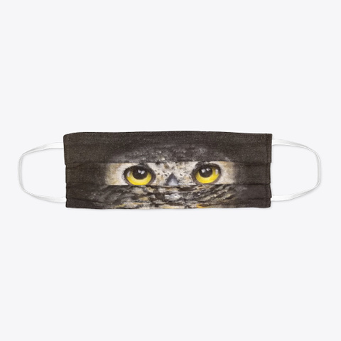 Dark Owl Face Mask Standard T-Shirt Flat