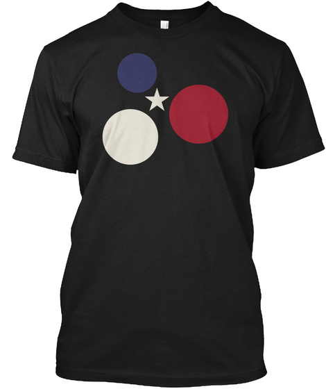 Deconstructed Us Flag Black T-Shirt Front
