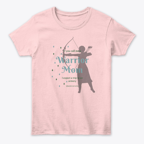 Warrior Mom 2 Light Pink Camiseta Front