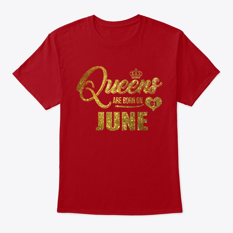 Queens Are Born On 01 July Shirt Deep Red T-Shirt Front