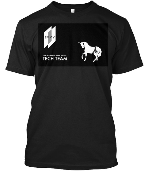 Evvy Tech Team The 36th Annual Evat Awards Black T-Shirt Front