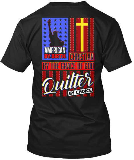 American Quilter Black T-Shirt Back