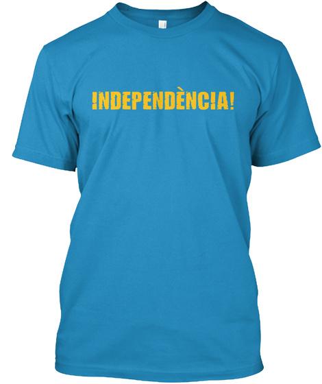 L'estelada Vermella Cor Catalunya Sapphire T-Shirt Front