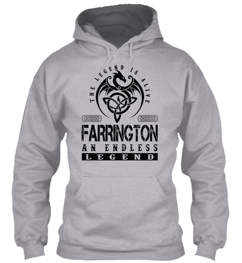 Farrington   Legends Alive Sport Grey T-Shirt Front