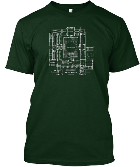 Elgin Plan, London Version. Forest Green T-Shirt Front
