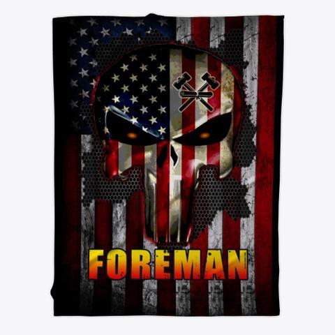 Sarcastic Foreman Blanket Black T-Shirt Front