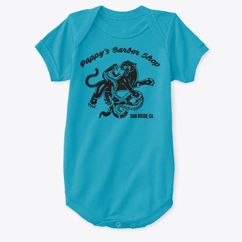 Panther Onsie Turquoise T-Shirt Front