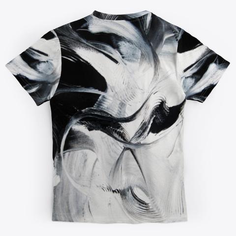 Black & White Chic Black T-Shirt Back