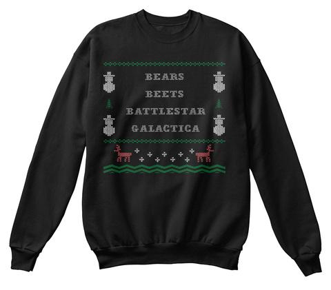 Bears Beets Battlestar Galactica Black T-Shirt Front
