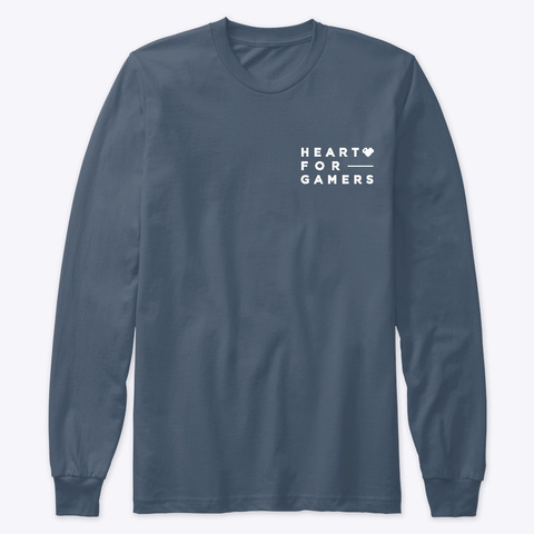 Heart For Gamers Indigo T-Shirt Front