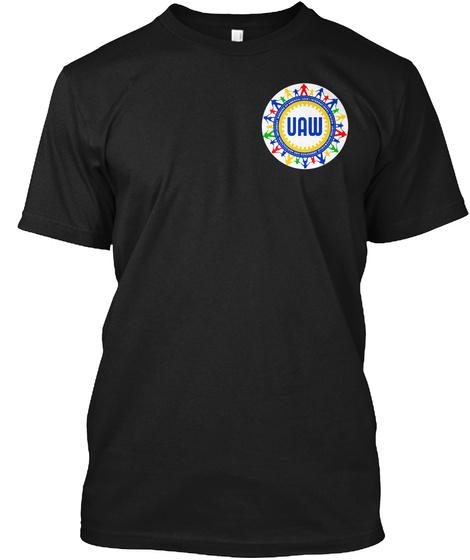 Uaw Black T-Shirt Front