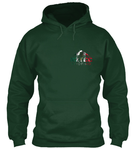 Aztec Roofing Forest Green T-Shirt Front