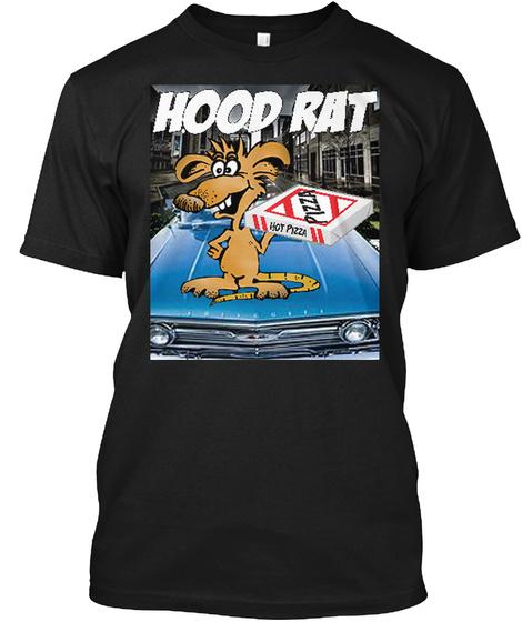 Hood Rat T Shirt Black T-Shirt Front