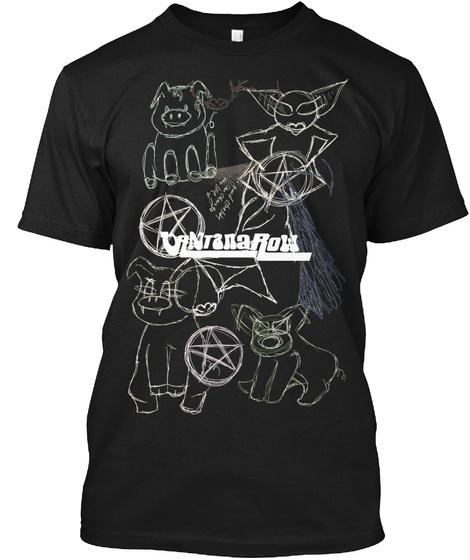 Satan Ball Z Series : Gangtana Row Black T-Shirt Front