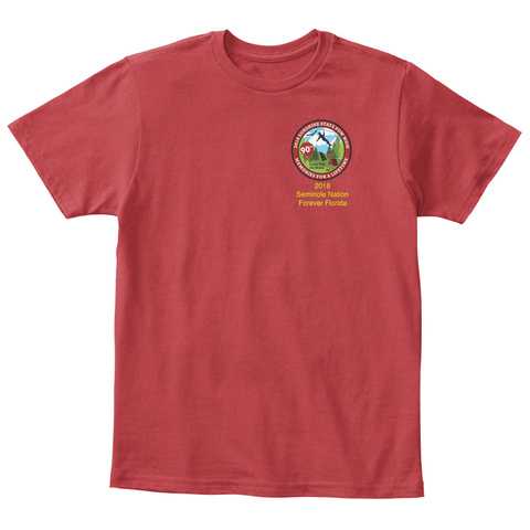 2019 Serinaide Nation Forever Florida Classic Red T-Shirt Front