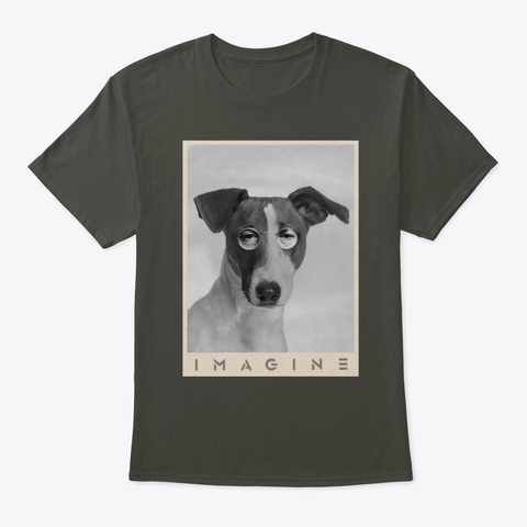 Jack Russell Imagine Smoke Gray T-Shirt Front