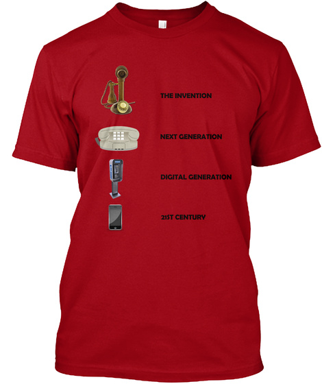 The Evolution Of The Telephone Deep Red T-Shirt Front