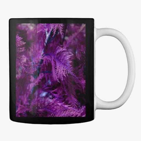 Purple Cypress Black T-Shirt Back