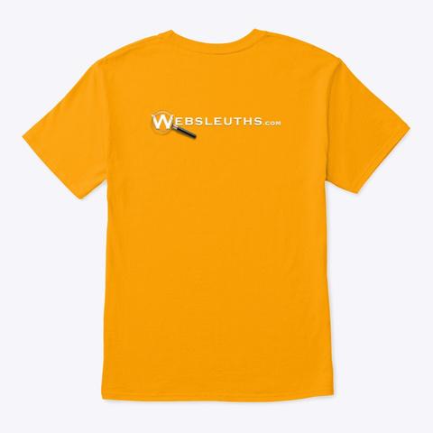 Boo! Happy Meowloween Gold T-Shirt Back