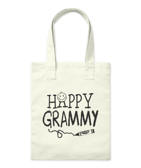 Happiness Is Being A Grammy Natural Borsa di Tela Front
