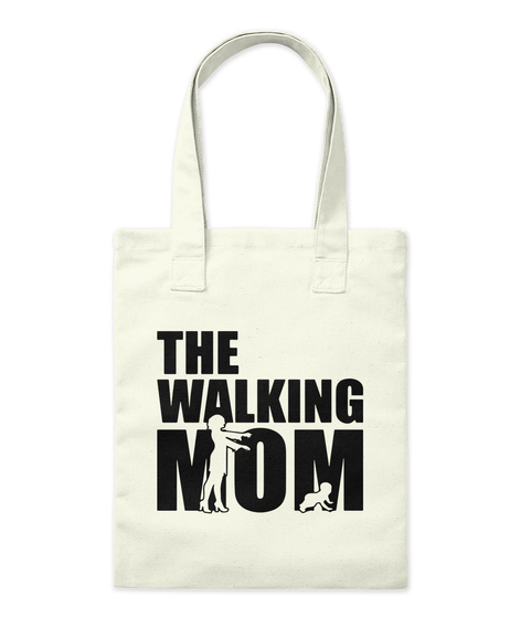 The Walking Mom Natural Tote Bag Front
