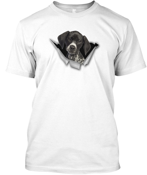 German Shorthaired Pointer  Tm White T-Shirt Front