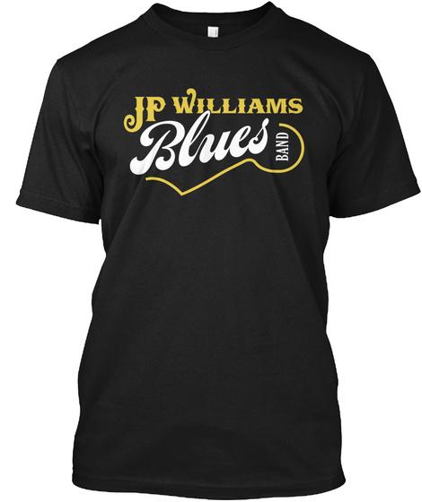 Official Jp Williams Blues Band Shirt Black Kaos Front