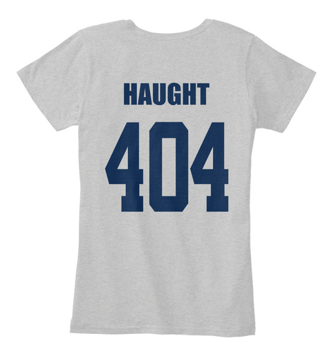 Haught 404 Light Heather Grey T-Shirt Back