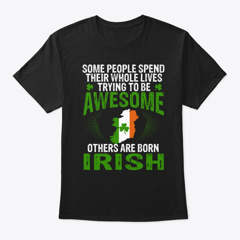 Iris People Trying To Be Awesome Tee Black T-Shirt Front