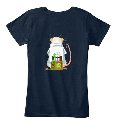 Science Matters Wiff Milo  New Navy Women's T-Shirt Back