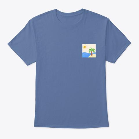 Palm Tree Denim Blue T-Shirt Front