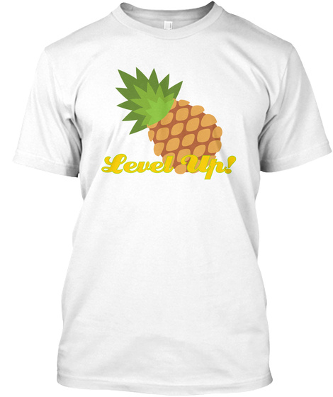 Level Up White T-Shirt Front