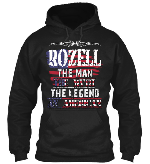 Rozell  Black T-Shirt Front