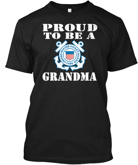 Proud To Be A Grandma Black T-Shirt Front