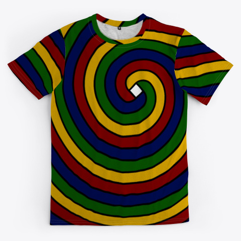 Archimedean Spiral Series   Multicolor Standard T-Shirt Front