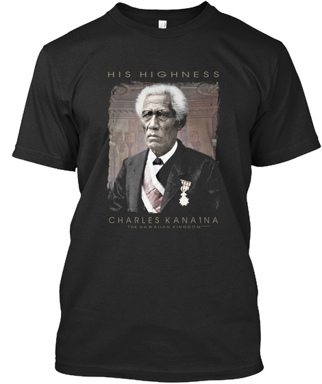 Hh Charles Kana'ina Black T-Shirt Front