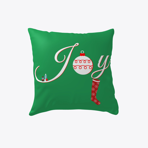 Christmas Joy Holiday Decor Green T-Shirt Front