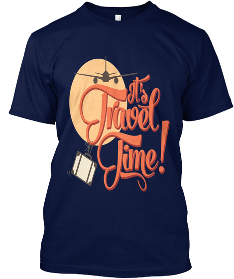 It's Travel Time! Navy áo T-Shirt Front